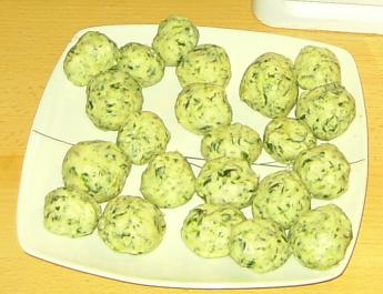 Spinat Klößchen