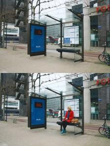 Gewicht an der Bushaltestelle