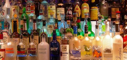Bottles at a Bar -- Creative Commons
