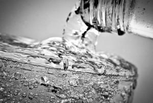 Wasser mit Blubber
